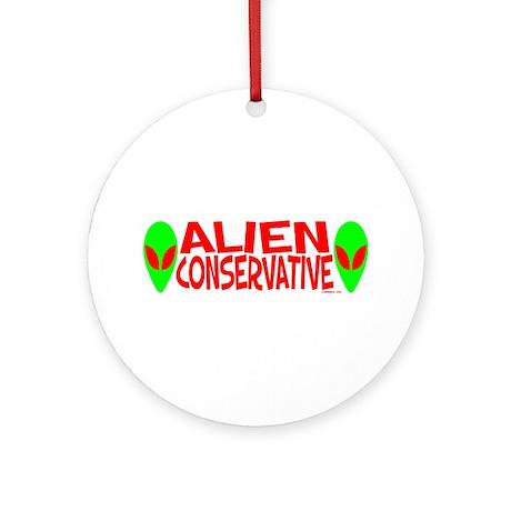Alien Conservative Ornament (Round)