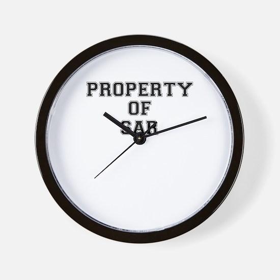 Property of SAR Wall Clock