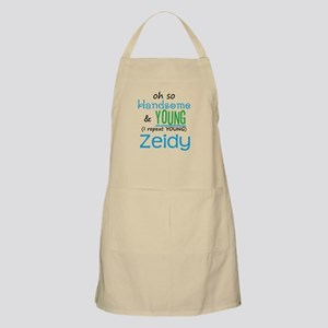Handsome and Young Zeidy BBQ Apron