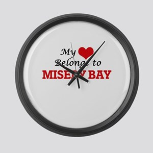 My Heart Belongs to Misery Bay Mi Large Wall Clock