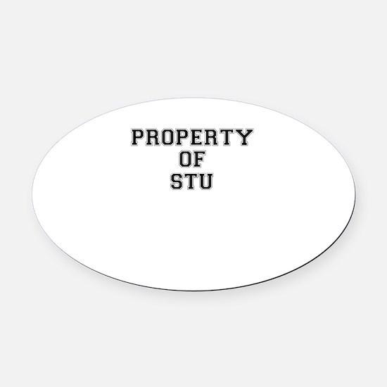 Property of STU Oval Car Magnet