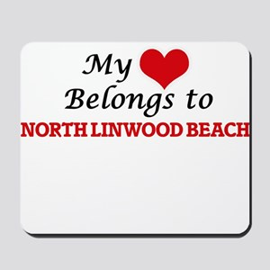 My Heart Belongs to North Linwood Beach Mousepad