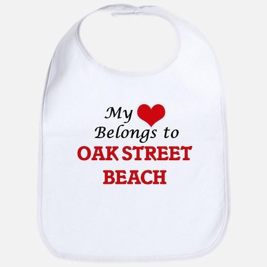 My Heart Belongs to Oak Street Beach Illinois Bib