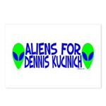 Aliens For Dennis Kucinich Postcards (Package of 8
