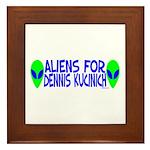 Aliens For Dennis Kucinich Framed Tile