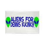 Aliens For Dennis Kucinich Rectangle Magnet (10 pa