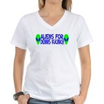 Aliens For Dennis Kucinich Women's V-Neck T-Shirt