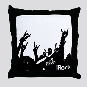 Rock On Colorful Throw Pillow