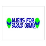 Aliens For Barack Obama Small Poster