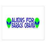 Aliens For Barack Obama Small Poster