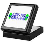 Aliens For Barack Obama Keepsake Box