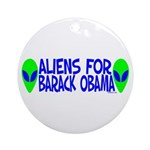 Aliens For Barack Obama Ornament (Round)