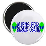"""Aliens For Barack Obama 2.25"""" Magnet (100 pack)"""