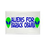 Aliens For Barack Obama Rectangle Magnet