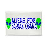 Aliens For Barack Obama Rectangle Magnet