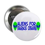 "Aliens For Barack Obama 2.25"" Button"