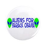 "Aliens For Barack Obama 3.5"" Button (100 pack)"