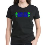 Aliens For Barack Obama Women's Dark T-Shirt