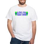 Aliens For Barack Obama White T-Shirt
