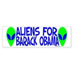 Aliens For Barack Obama Bumper Sticker