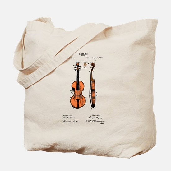 Fiddle Patent Tote Bag