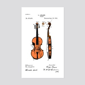 Fiddle (Full) Patent Rectangle Sticker