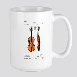 Fiddle (Full) Patent Large Mug
