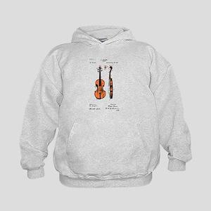 Fiddle (Full) Patent Kids Hoodie