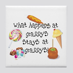 What Happens at Granny's... Tile Coaster