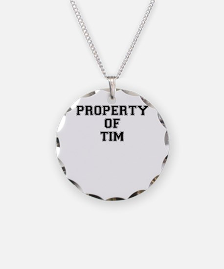 Property of TIM Necklace