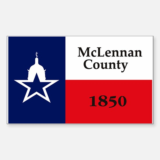McLennan County Flag Rectangle Decal