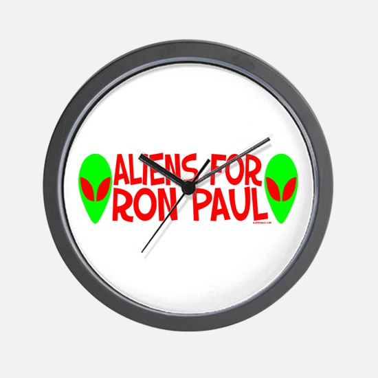 Aliens For Ron Paul Wall Clock
