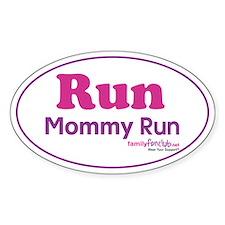 Run Mommy Run Oval Sticker