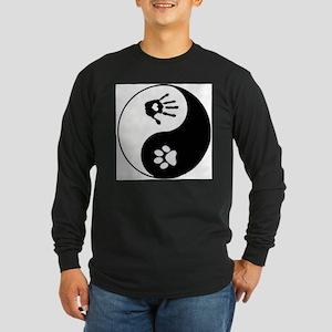 dog human yin yang Long Sleeve T-Shirt