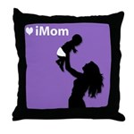 iMom Purple Mother's Day Gift Throw Pillow