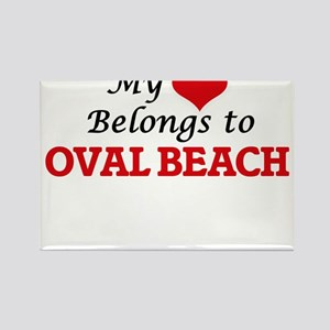My Heart Belongs to Oval Beach Michigan Magnets