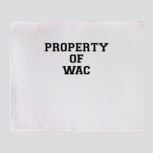 Property of WAC Throw Blanket