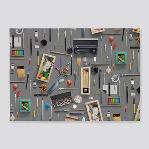Artist's supplies 5'x7'Area Rug