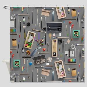 Artist's supplies Shower Curtain
