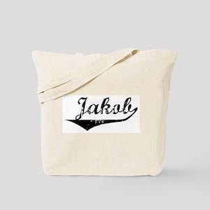 Jakob Vintage (Black) Tote Bag