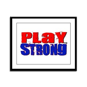 Play Strong Classic Framed Panel Print