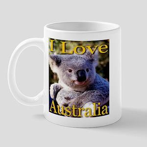 I Love Australia Koala Bear Mug