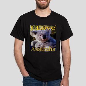 I Love Australia Koala Bear Dark T-Shirt