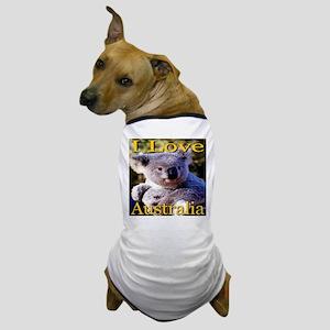 I Love Australia Koala Bear Dog T-Shirt