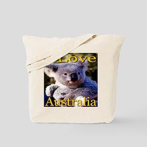 I Love Australia Koala Bear Tote Bag