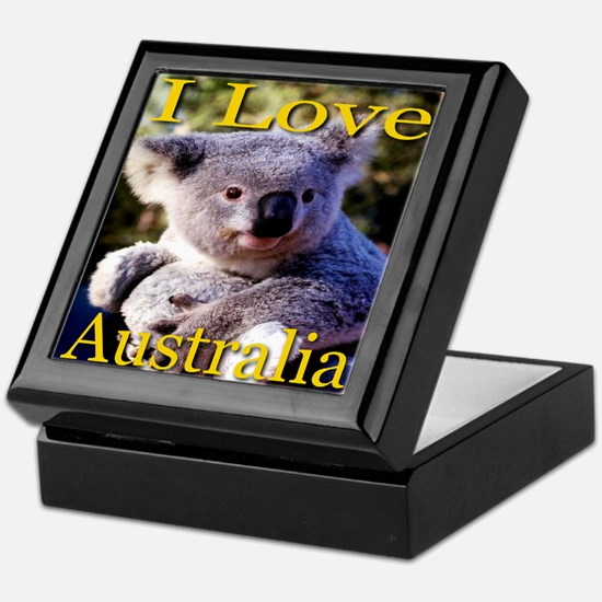 I Love Australia Koala Bear Keepsake Box