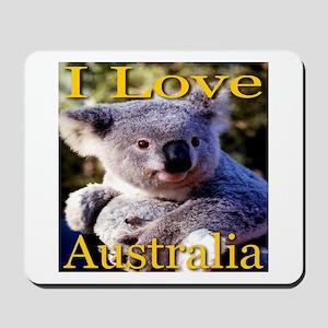 I Love Australia Koala Bear Mousepad