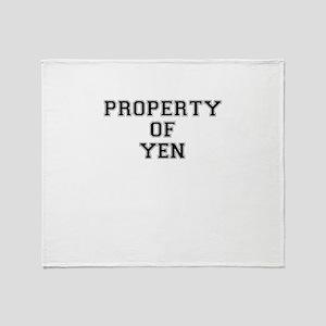 Property of YEN Throw Blanket