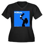 iMom Blue Mother's Day Women's Plus Size V-Neck Da