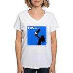 iMom Blue Mother's Day Women's V-Neck T-Shirt